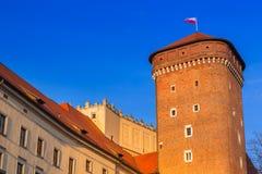 The Royal Wawel Castle in Krakow at Vistula river. The Royal Wawel Castle in Krakow, Poland Stock Photo