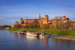 The Royal Wawel Castle in Krakow Royalty Free Stock Photo