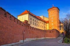 The Royal Wawel Castle in Krakow at Vistula river. Poland Stock Photo
