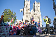 Royal Wedding 2011 Campers Stock Images