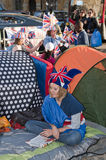Royal Wedding 2011 Campers Stock Photos