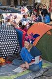 Royal Wedding 2011 Campers Stock Photos