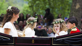 Royal Wedding Bridesmaids stock photo
