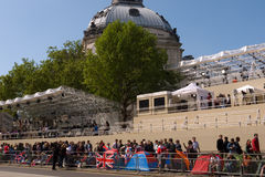 Royal Wedding campers, Westminster Abbey. Royalty Free Stock Photos