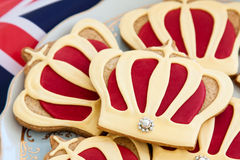 Royal wedding cookies. Cookies made to celebrate the wedding of Prince William and Kate Middleton Royalty Free Stock Photos