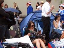 Royal Wedding fan camp stock photography