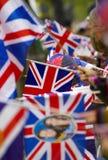 Royal Wedding Flags Royalty Free Stock Photos