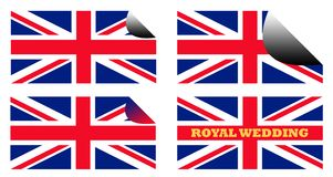 Royal Wedding labels or stickers Royalty Free Stock Photo