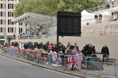 Royal wedding/London/27,04,2011 Royalty Free Stock Image