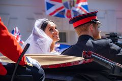 Prince Harry and Meghan Markle wedding. The royal wedding of Prince Harry and Meghan Markle in Windsor UK 19th May 2018 stock image