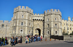 Royal Windsor Castle in England Royalty Free Stock Images