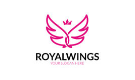Royal Wings Logo Royalty Free Stock Image