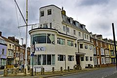 The Royal Yorkshire Yacht Club, Bridlington, in Easter 2019. stock photo