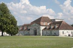 Royale salino en arco y Senans Edificio histórico hecho por el arquitecto de Claude-Nicolas Ledoux, en el arco y Senas Francia imagenes de archivo