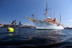 Royale yacht copenhagen Royaltyfria Foton
