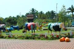 Royalparkrajapruek é o parque o mais bonito Fotos de Stock Royalty Free