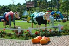 Royalparkrajapruek é o parque o mais bonito Foto de Stock Royalty Free