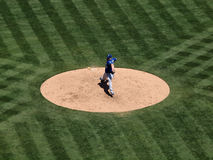 Royals Sean O'Sullivan steps into a pitch throw Royalty Free Stock Images