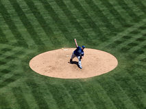 Royals Sean O'Sullivan steps into a pitch throw Stock Image