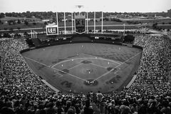 Royals Stadion, Kansas City, MO Lizenzfreies Stockbild