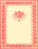 Royalty. A vintage inspired background made of a royalty crest and various designs royalty free stock photos