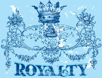 Royalty. Vintage old t shirt design Royalty Free Stock Photography