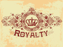 Royalty. Vintage old t shirt design Stock Image