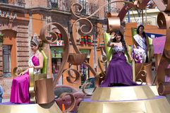 Royalty Atop Float in Chapala Royalty Free Stock Image