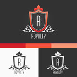 Royalty Crest Ornament Template. Vector Elements. Brand Icon Design Illustration. EPS10 Royalty Free Stock Photos