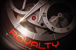 Royalty on the Elegant Wristwatch Mechanism. 3D. Royalty Free Stock Photography