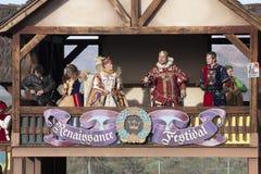 Royalty för Arizona renässansfestival Arkivbilder