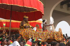Royalty in Ghana. March 6, 2007 - A local chief is carried into an official ceremony in Accra, Ghana, as the country marks its 50th anniversary of independence Stock Photo