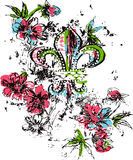 Royalty logo flower Royalty Free Stock Photography