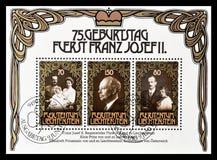 Royalty op postzegels stock fotografie