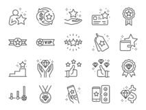 Free Royalty Program Line Icon Set. Included Icons As Member, VIP, Exclusive, Diamond, Badge, High Level And More. Stock Images - 154426444