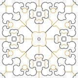 Royalty seamless pattern with golden ornaments Stock Photos