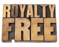 Royalty vrij in houten type royalty-vrije stock foto