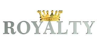 Royaltyconcept, het 3D teruggeven Stock Afbeeldingen