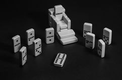 Royaume de domino Images libres de droits