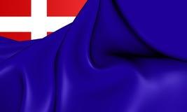 Royaume de drapeau de la Sardaigne Photos stock
