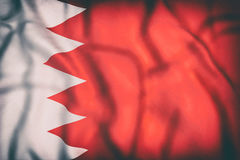 Royaume de drapeau du Bahrain Photo stock
