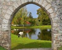 Royaume des fées dans le district de Sigulda, Lettonie Photographie stock libre de droits