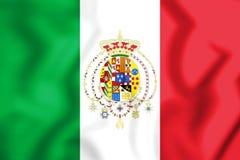 Royaume du drapeau 1860 de deux Sicilies Photographie stock libre de droits