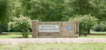 Royaume Hall des témoins du ` s de Jéhovah Images libres de droits