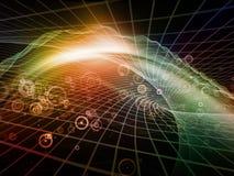 Royaumes virtuels de fractale Images stock