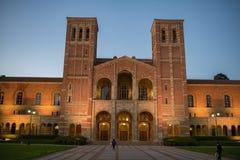 Royce Hall en la Universidad de California, campus de Los Ángeles Fotografía de archivo libre de regalías
