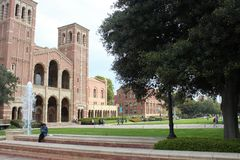 Royce Hall, uniwersytet kalifornijski UCLA Los Angeles, Kalifornia Obrazy Royalty Free