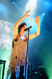 Royksopp & Robyn (electronic band from) performs at Sonar Festival Stock Image
