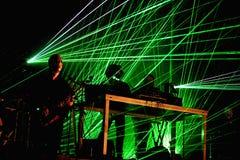 Royksopp & Robyn (elektronische band van Zweden en Noorwegen) presteren bij Sonarfestival royalty-vrije stock foto