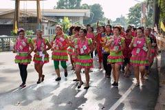 ROYONG, TAJLANDIA †'PAŹDZIERNIK 19: Tajlandzki tancerz w tradycyjnym pączku Fotografia Royalty Free